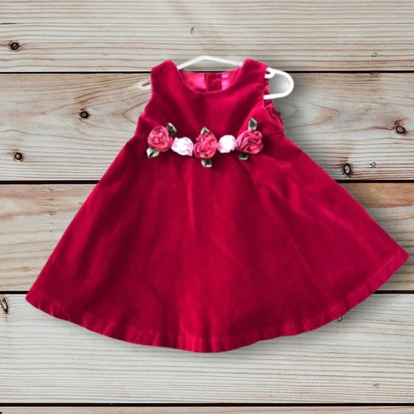 Children's Place Red Floral Dress With Bloomers